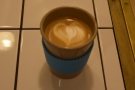 I had a flat white in my Eco To Go Cup. Sorry about the poor quality photo...