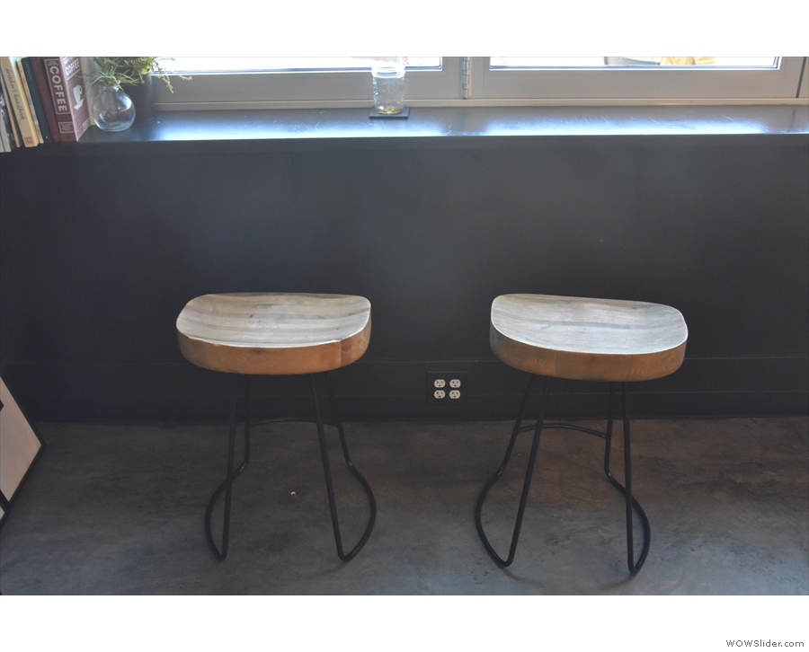 Again, more of the comfortable, broad-topped stools.