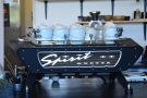 Pride of place goes to the Kees van der Westen Spirit espresso machine which is...