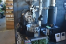 ... but pride of place, in front of the iron door, is BLK \ MRKT's roaster.