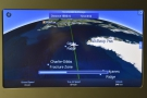On this projection, we are due to fly close to the southern tip of Greenland...