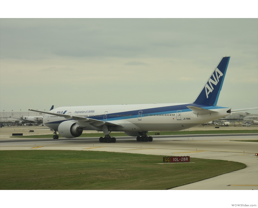 At the other end of the scale, here's an ANA Boeing 777-300 just landed from Tokyo...