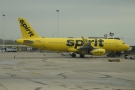 Getting close now. This Spirit Airlines Airbus A320-200 is on stand at one of the terminals.