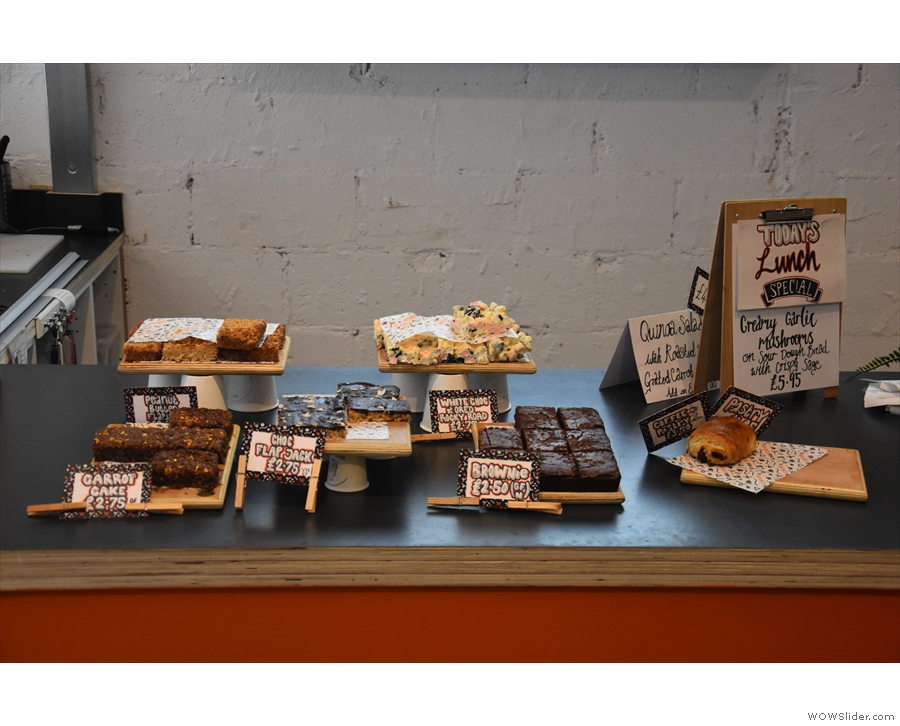 Finally, there's a selection of cake on the counter top by the till.