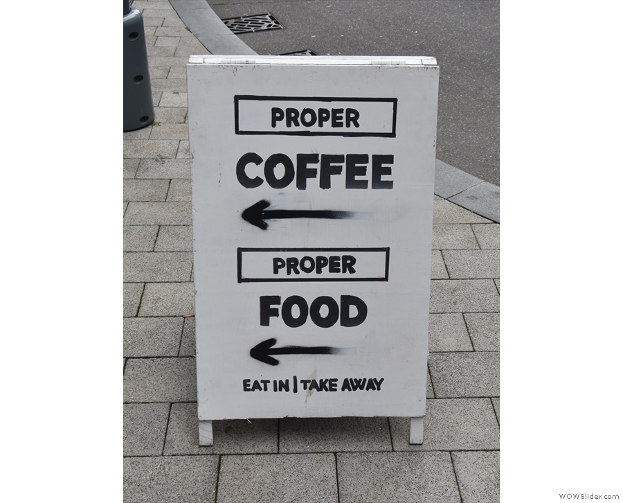... with an A-board that promises much.