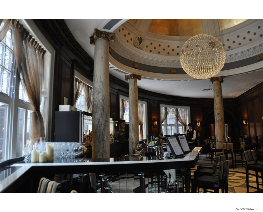 The elegant surroundings of Champagne Central, overlooking Glasgow's Central Station
