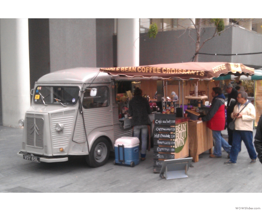 Bean About Town's outpost at the Real Food Market at London's South Bank Centre, still my favourite takeaway coffee!