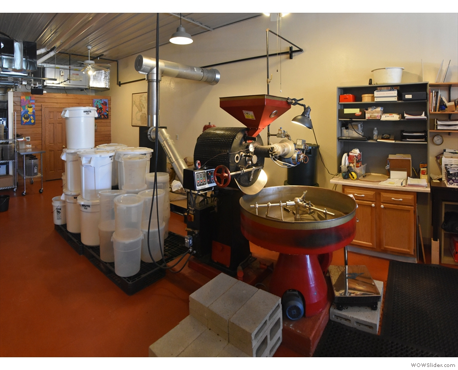 The heart of the roastery is this 15kg Roure roaster from Spain.
