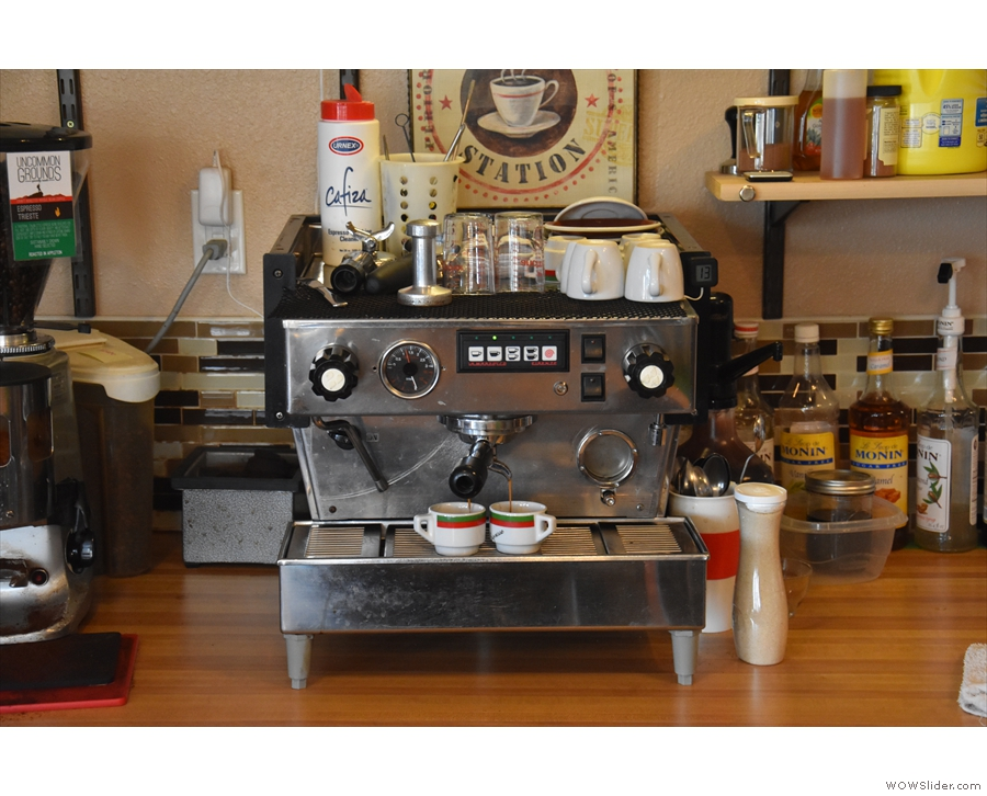 After chatting with Dan, he offered to make me an espresso using the Trieste blend...