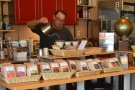 Here's Dan, owner, head roaster, and everything else, making my coffee!