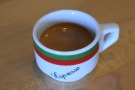 ... which came served in a cute little espresso cup.