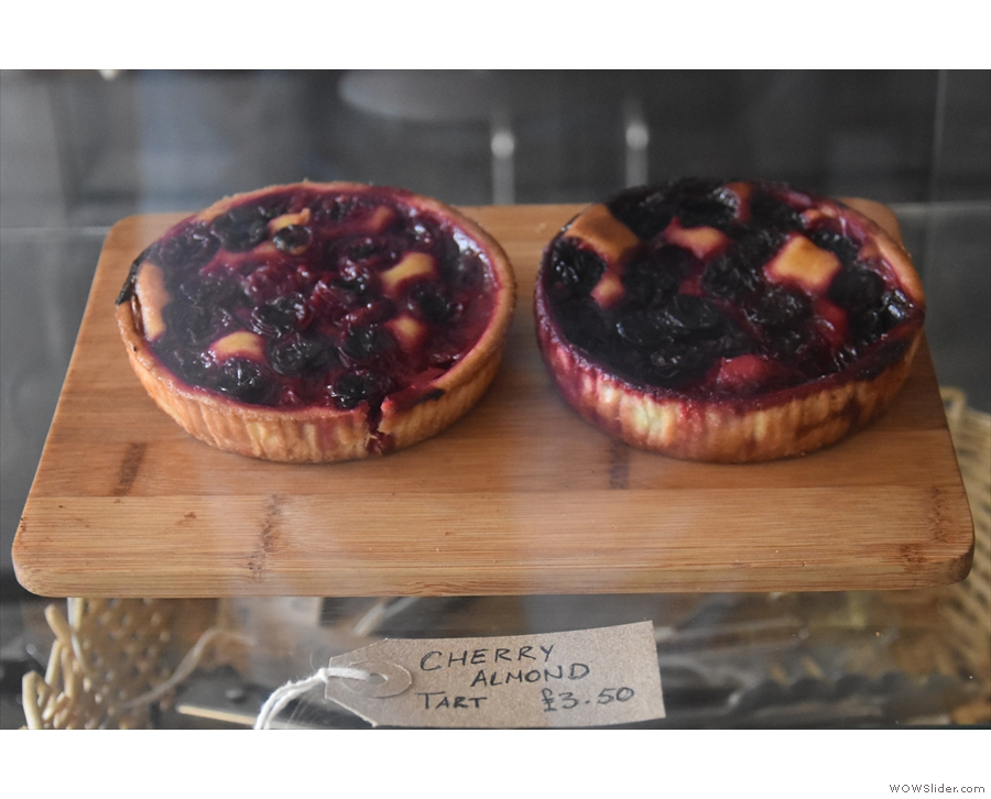 ... cherry almond tarts...