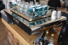 The rest of the counter contains the lovely Kees van der Westen Spirit espresso machine.