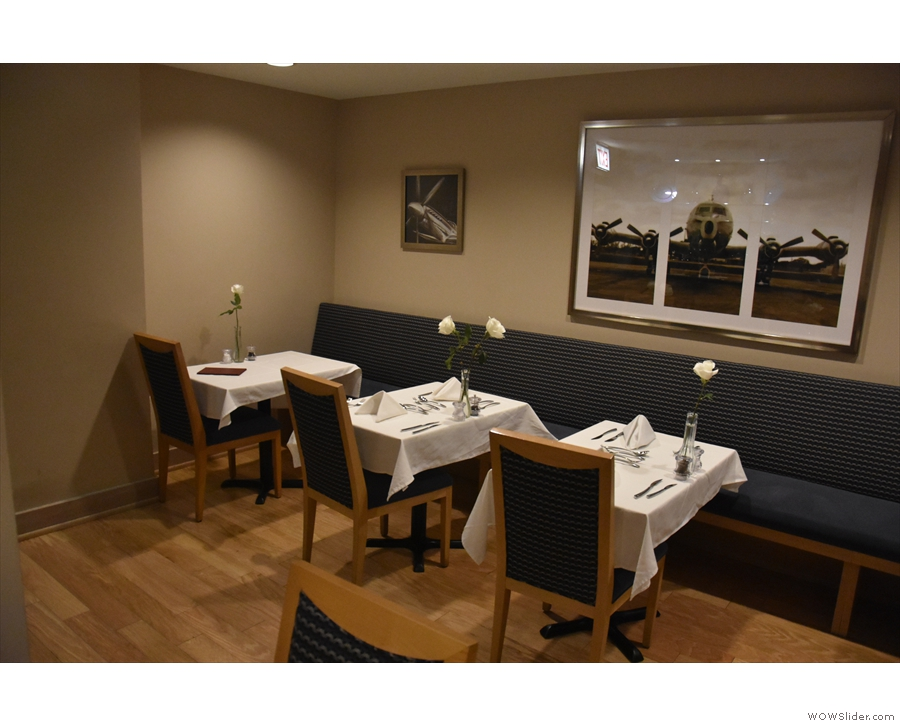 ... a private dining room, very small and intimate, with just seven two-person tables.