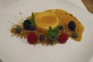 ... and a passionfruit custard for dessert.