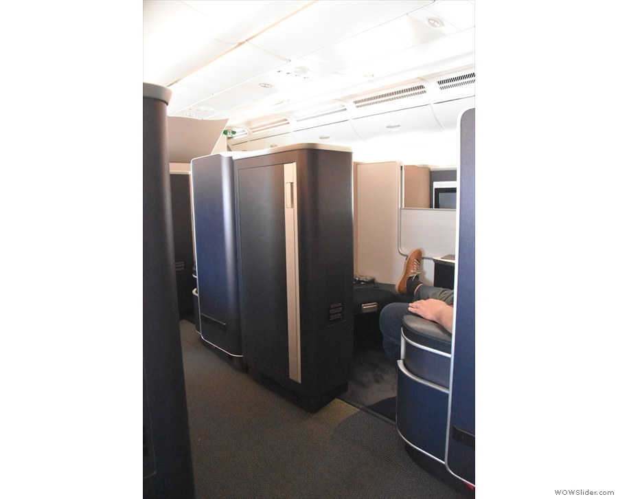 There's a distinct level of privacy compared to the more open seats in Club World.