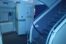 This is where I'd expect a galley to be, but on the A380, it's just a large, empty space...