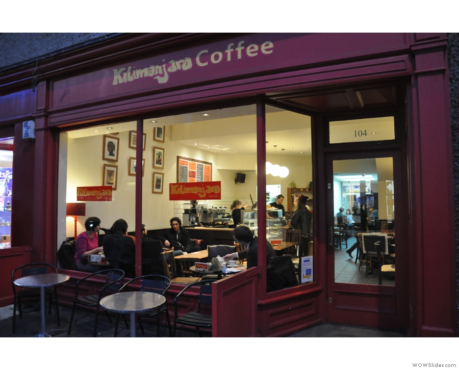 Kilimanjaro, quietly going about its business in Edinburgh.