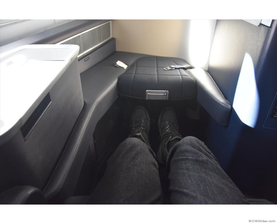 Behold my leg room!