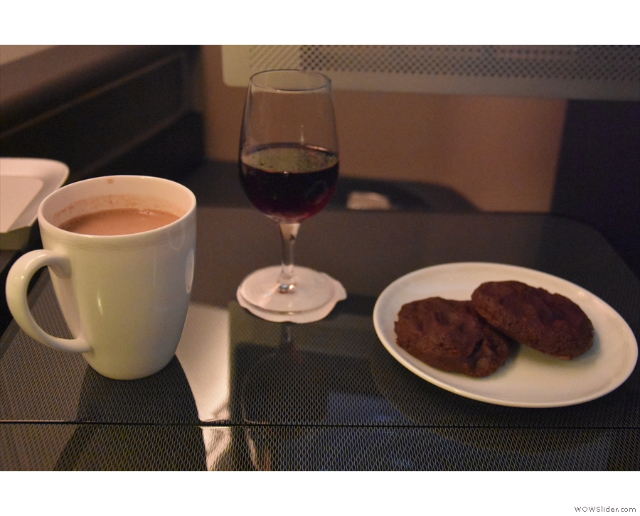 ... a glass, along with some hot chocolate and warm cookies as a night cap.