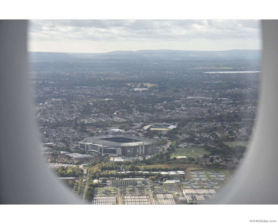 Next, we flew over Twickenham, so that must be...