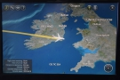 ... just as we crossed over the east coast of Ireland and headed out over the Irish Sea.
