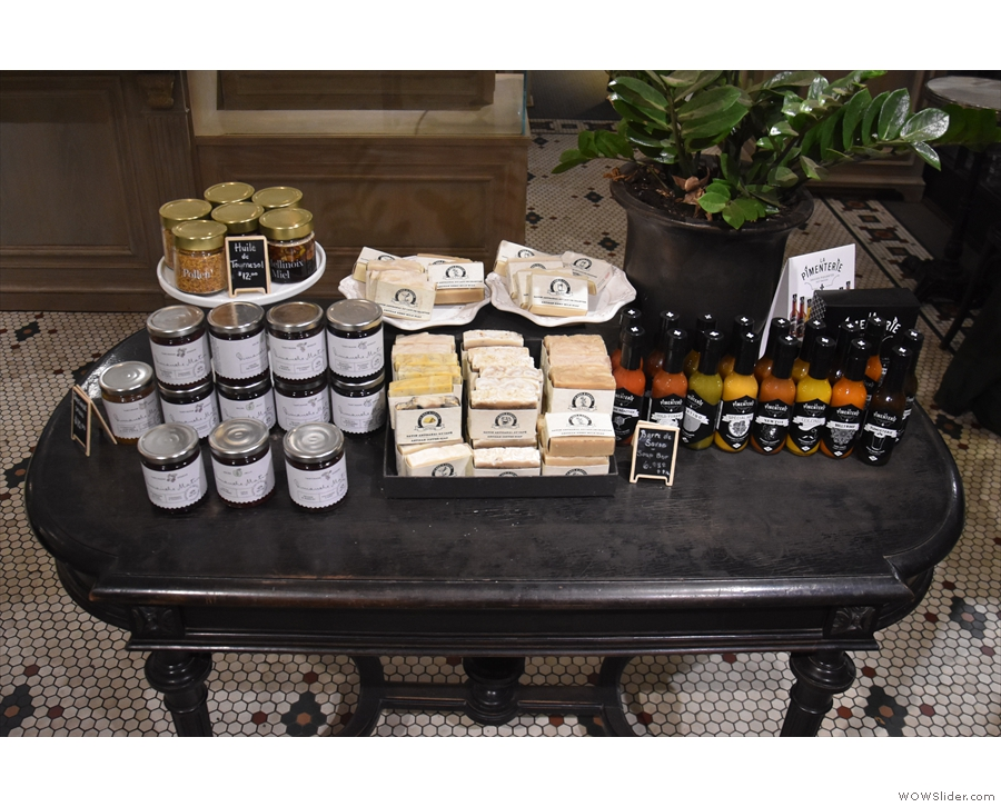 However, Café Myriade also sells a small range of produce which you can find on this table.