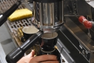 ... a good view of the espresso machine in action.