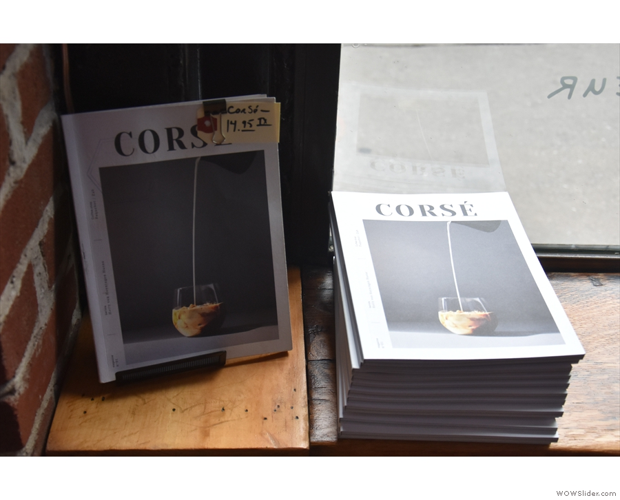 This is Corse ('Full Body'), the first French-language speciality coffee magazine.