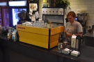 ... so I decided to have a shot from the yellow La Marzocco Linea.