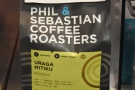 When it comes to coffee, it's always Phil & Sebastian. This Ethiopean was on espresso...