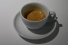 My espresso, in a classic white cup.