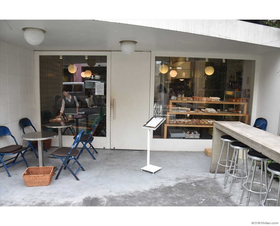 Bread, Espresso & is at the back, with a good range of outdoor seating.