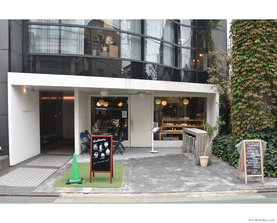 Bread, Espresso & in Omotesando, set back a good way from the street.