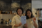 I'll leave you with Yumi & Mizuki from my first visit, with my book, The Philosophy of Coffee.