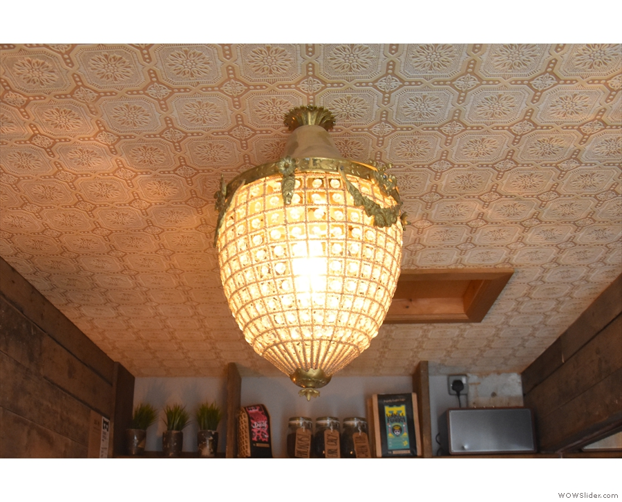 Both the ceiling and the light-fitting are things of beauty, unchanged from 2016.