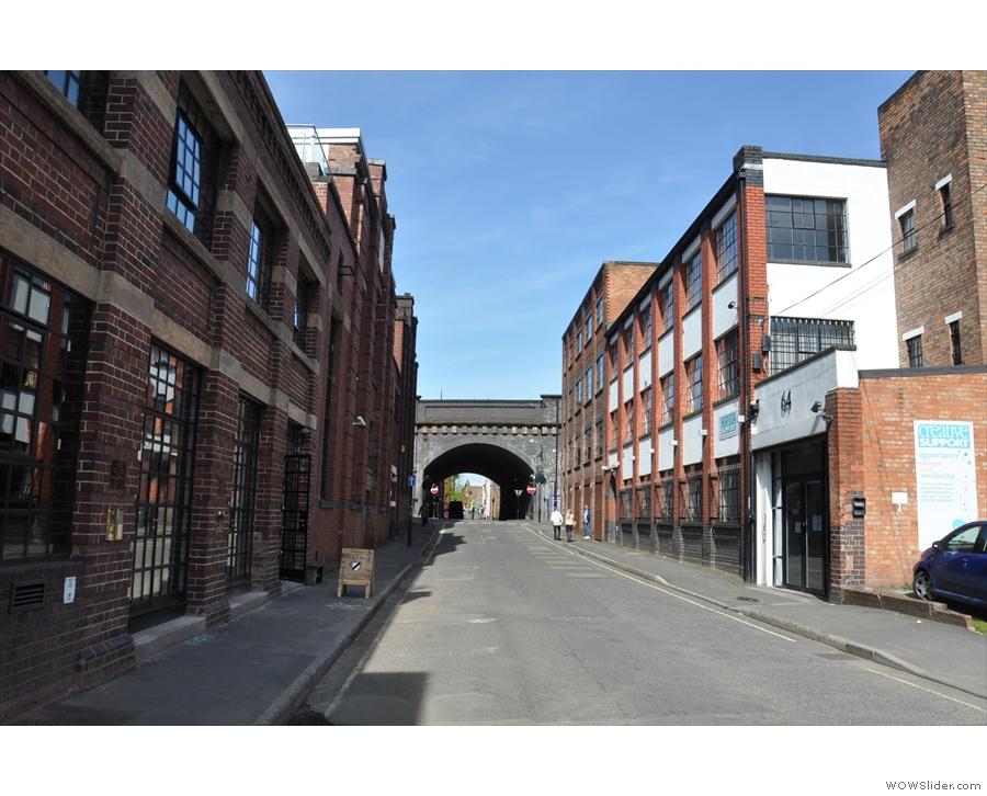 Birmingham's Water Street, home of Upstairs Coffee, as was.