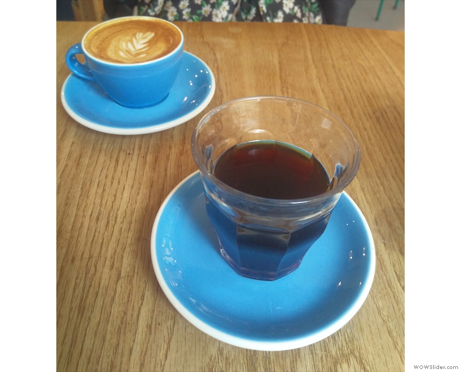 Later I was joined by the lovely Dr Kaffeine (flat white) while I had a glass of the...