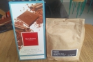 Finally, there was an exchange of gifts: chocolate for me, coffee from BLK / MRKT for Dr K.
