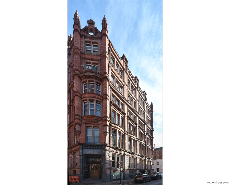 On Manchester's Dean Street, you'll find this particuarly handsome building...