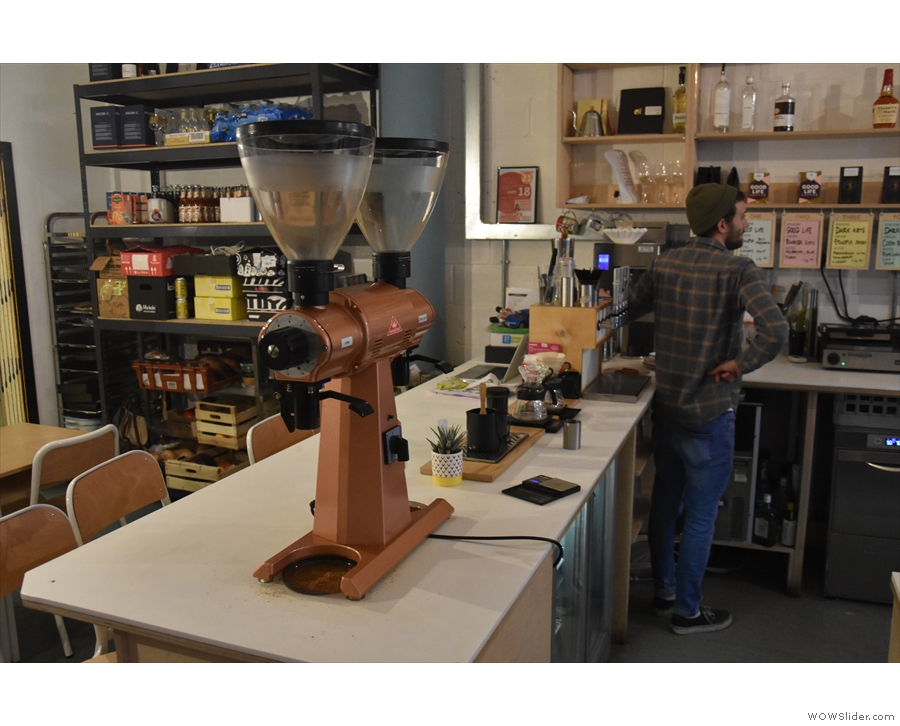 Finally, at the back is the pour-over section with the famous double-headed EK-43.