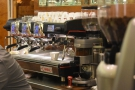 That said, Tazza D'Oro also has a shiny La Cimbali M100 behind the first counter.