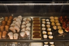 Roscioli has a glass-topped counter, with all the cakes, pastries, etc, stored below it...