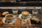 We were back on the African blend, and, once again, Amanda had a cappuccino...