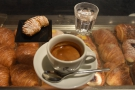 ... while I had a double shot (doppio espresso).