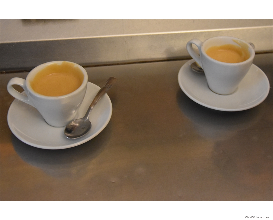 ... in this case, two espressos (without sugar).