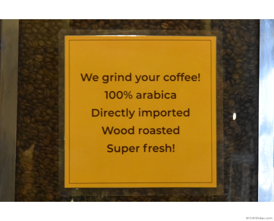 ... and wood roasted on site.