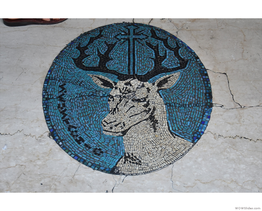There's also a lovely mosaic in the tiling on the threshold of the door.