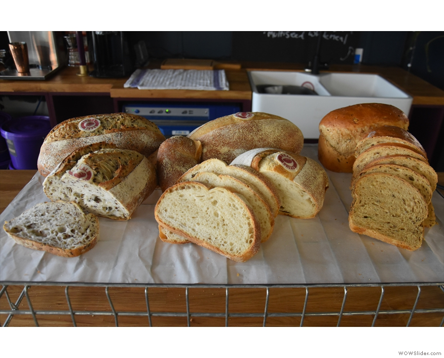 There's a choice of three: sourdough, multi-grain sourdough & multi-grain wholemeal.