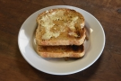 A small sample of the multiple slices of toast I had at Heart & Graft.